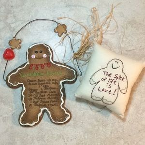 Gingerbread Man Set of 2 Holiday Decor